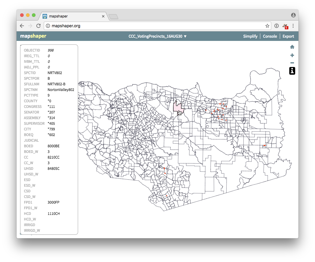 Viewing a shapre file in mapshaper