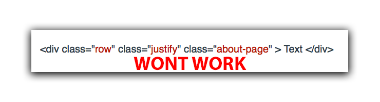 Multiple class atrributes wont work