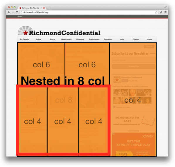 Nested in 8 column