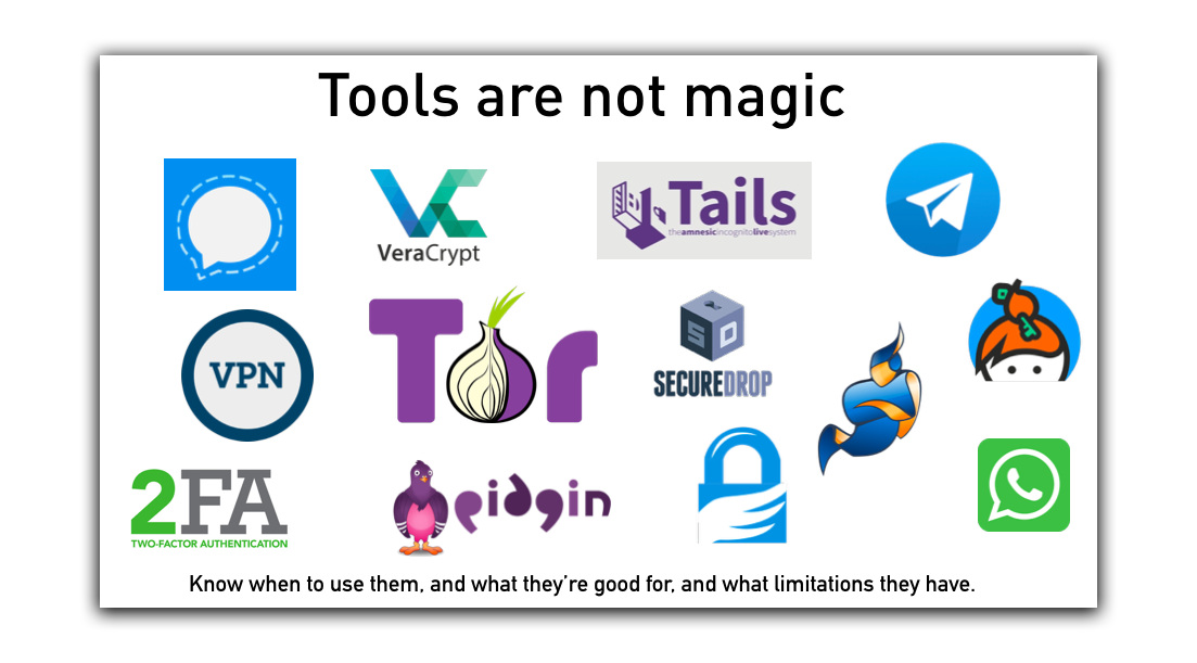 Tools are not magic