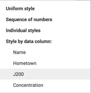 Selecting J200 Column