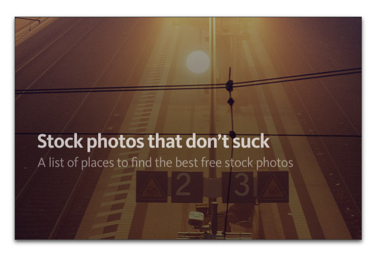 Stock photos that don't suck