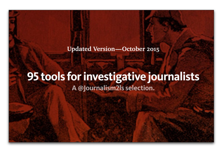Tools for investigative journalists