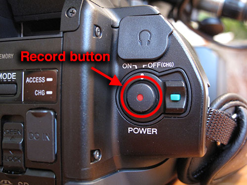 Record button for Sony NX70