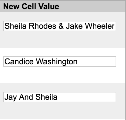 New Cell Value column