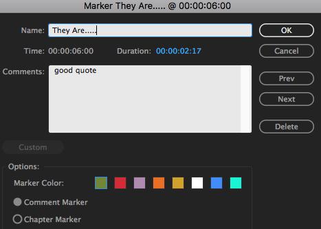 Marker edit