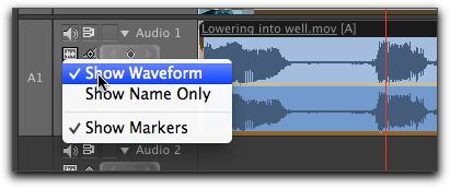 Show waveform in audio track