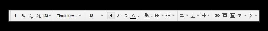 Format bar