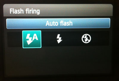 Flash options in creative auto on Canon T3i